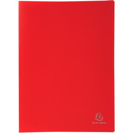 EXACOMPTA Sichtbuch, DIN A4, PP, 80 Hüllen, rot
