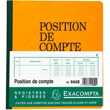 """EXACOMPTA Piqûre """"Position de compte"""", 210 x 190 mm"""
