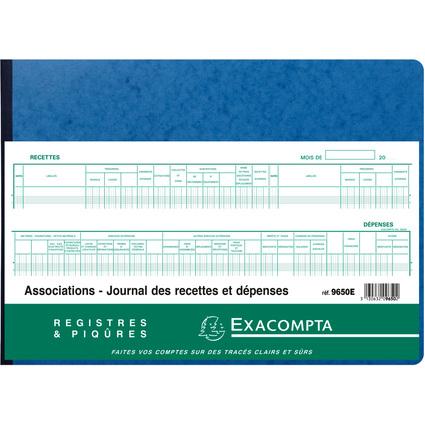 "EXACOMPTA Piqûre ""Recettes/Dépenses des Associations"""