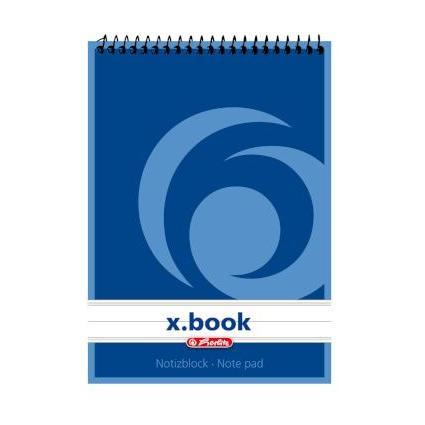 herlitz Spiralnotizblock x.book, DIN A6, 50 Blatt, liniert