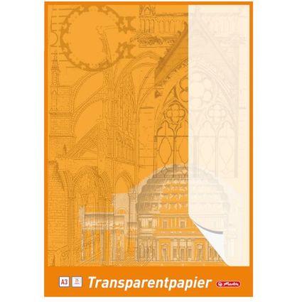 herlitz Transparentpapierblock DIN A3, 65 g/qm, weiß