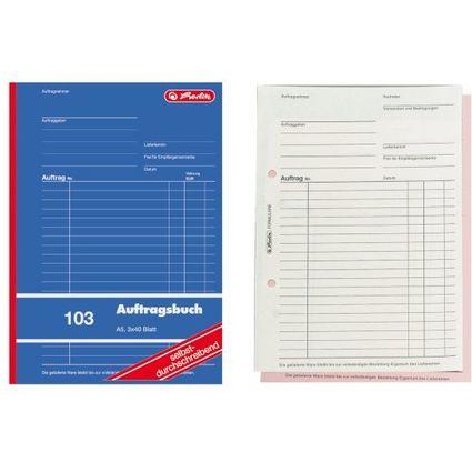 """herlitz Formularbuch """"Auftrag 103"""", DIN A5, 3 x 40 Blatt"""