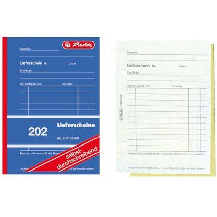 """herlitz Formularbuch """"Lieferschein 202"""", A6, 2 x 40 Blatt"""
