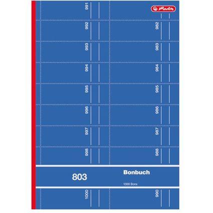"""herlitz Formularbuch """"Bonbuch 803"""", DIN A4, sortiert"""