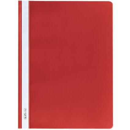 herlitz Schnellhefter, DIN A4, aus PP-Folie, rot