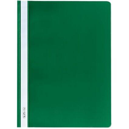 herlitz Schnellhefter, DIN A4, aus PP-Folie, grün