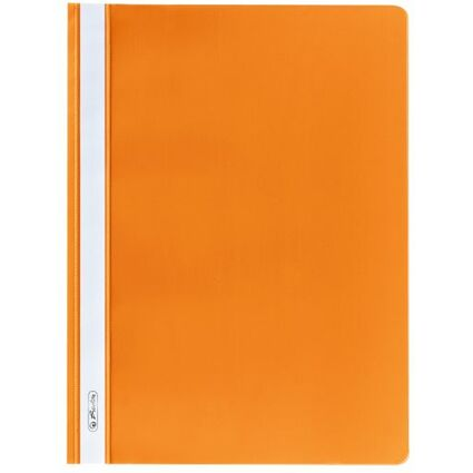 herlitz Schnellhefter, DIN A4, aus PP-Folie, orange