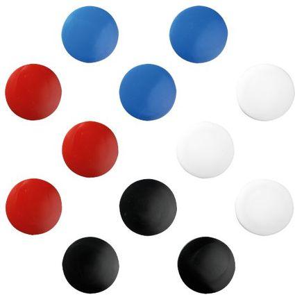 herlitz Haftmagnete, rund, Durchmesser: 30 mm, farbig