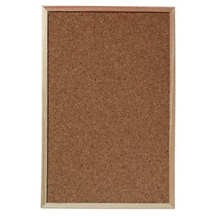 herlitz Korktafel, mit Holzrahmen, Maße: (B)400 x (H)600 mm