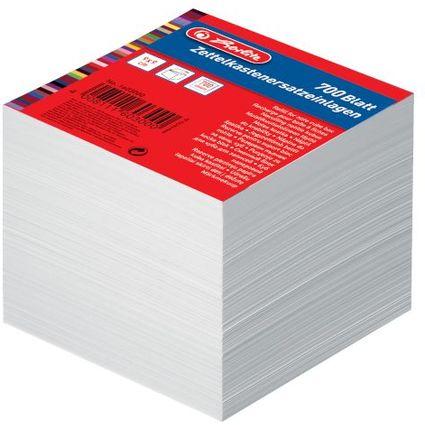 herlitz Zettelboxeinlagen, 90 x 90 mm, weiß