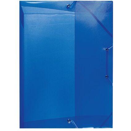 herlitz Heftbox, DIN A4, aus PP, transluzent-blau