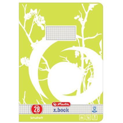 herlitz Schulheft x.book, DIN A4, UWS, Lineatur 28 / kariert