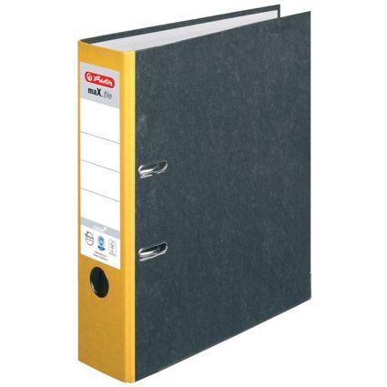 herlitz Ordner maX.file nature, Rückenbreite: 80 mm, gelber