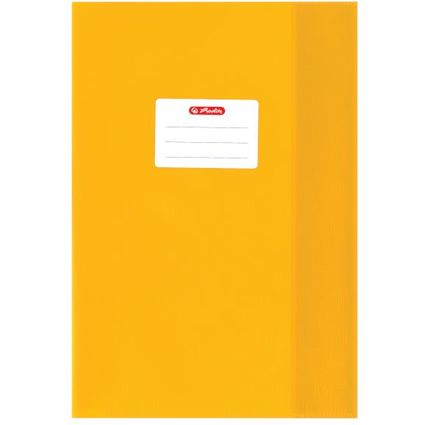 herlitz Heftschoner DIN A4, geprägt (Bast), PP, gelb