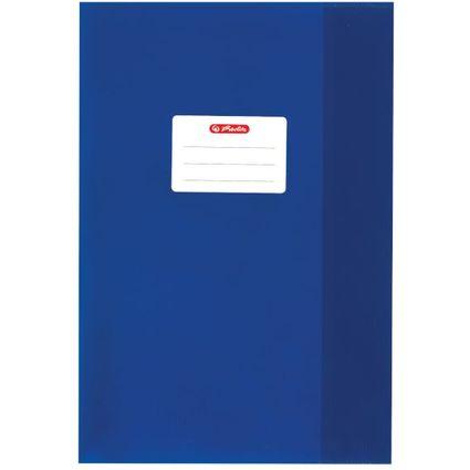 herlitz Heftschoner DIN A4, geprägt (Bast), PP, dunkelblau
