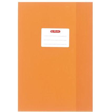 herlitz Heftschoner DIN A4, geprägt (Bast), PP, orange