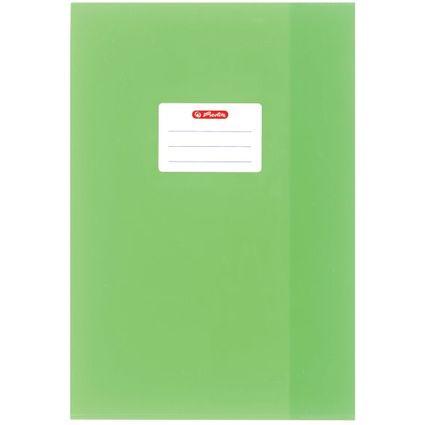 herlitz Heftschoner DIN A4, geprägt (Bast), PP, hellgrün