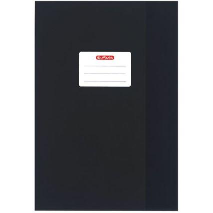 herlitz Heftschoner DIN A4, geprägt (Bast), PP, schwarz