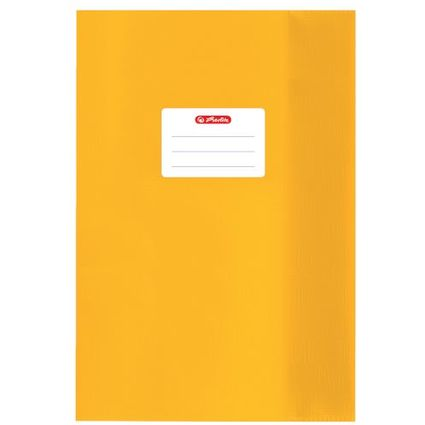 herlitz Heftschoner DIN A5, geprägt (Bast), PP, gelb