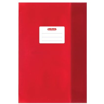 herlitz Heftschoner DIN A5, geprägt (Bast), PP, rot
