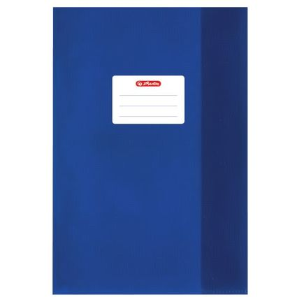 herlitz Heftschoner DIN A5, geprägt (Bast), PP, dunkelblau