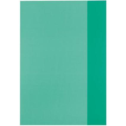 herlitz Heftschoner DIN A4, PP, transparent-grün