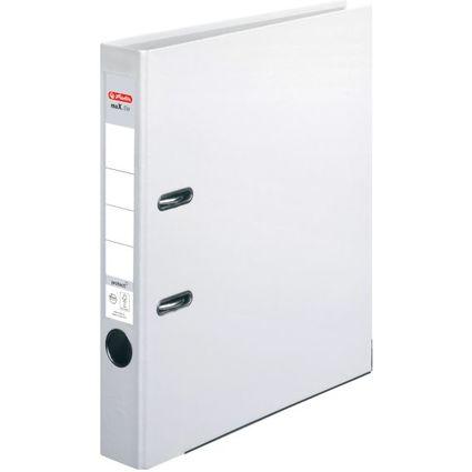 herlitz Ordner maX.file protect, Rückenbreite: 50 mm, weiß
