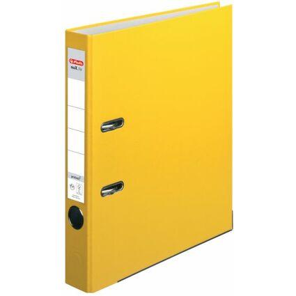 herlitz Ordner maX.file protect, Rückenbreite: 50 mm, gelb