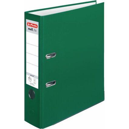 herlitz Ordner maX.file protect, Rückenbreite: 80 mm, grün