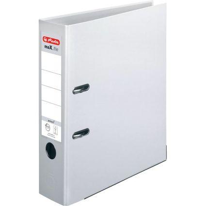 herlitz Ordner maX.file protect, Rückenbreite: 80 mm, weiß