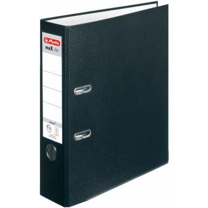 herlitz Ordner maX.file protect, Rückenbreite: 80mm, schwarz
