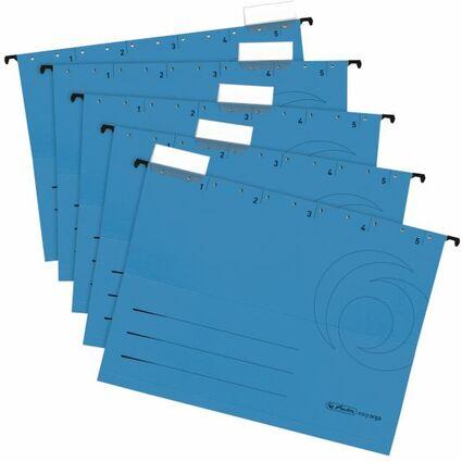 herlitz Hängemappe UniReg easyorga, A4, seitl. offen,blau