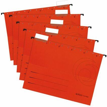 herlitz Hängemappe UniReg easyorga, A4, seitlich offen, rot