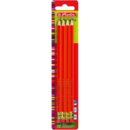 herlitz Bleistift Skizzo, sechseckig, Härtegrad HB, mit Tip