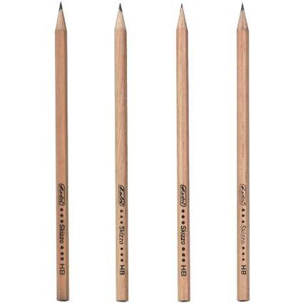 herlitz Bleistift Skizzo natur, sechseckig, Härtegrad HB