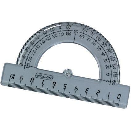 herlitz Halbkreis-Winkelmesser 180 Grad, aus Kunststoff