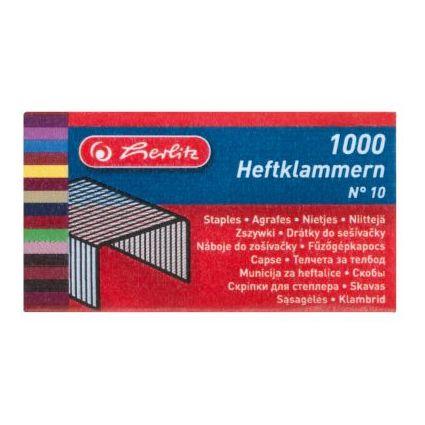 herlitz Heftklammern 10, Metall, Inhalt: 1.000 Stück