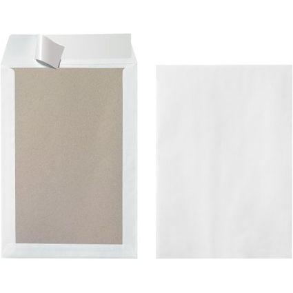 herlitz Versandtasche mit Papprücken B4, ohne Fenster, weiß