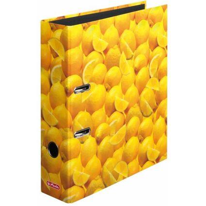 herlitz Motivordner maX.file Zitronen, A4, Rückenbr: 80 mm