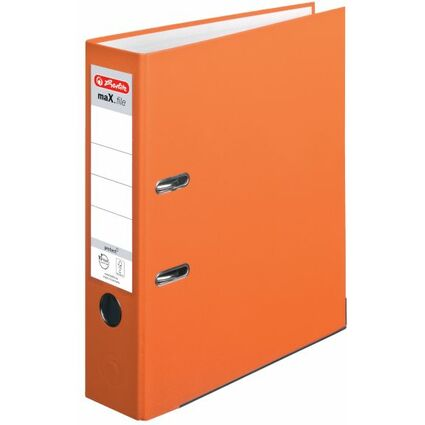 herlitz Ordner maX.file protect, Rückenbreite: 80 mm, orange