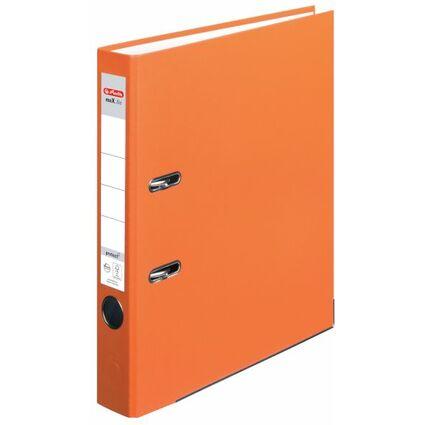 herlitz Ordner maX.file protect, Rückenbreite: 50 mm, orange