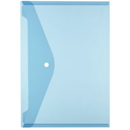 herlitz Dokumententasche, DIN A4, PP, blau/transparent