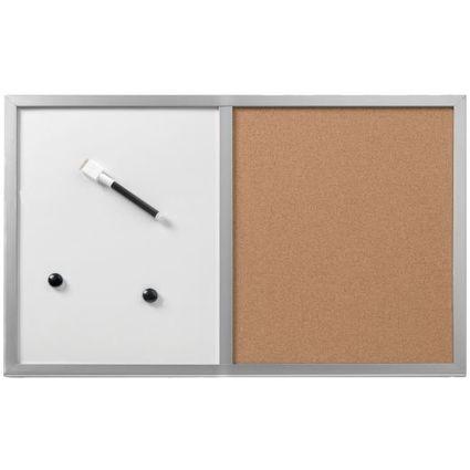 herlitz Kombi-Tafel, (B)600 x (H)400 mm, Holzrahmen silber