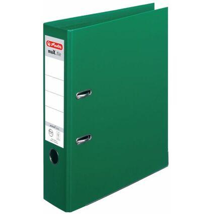 herlitz Ordner maX.file protect plus, Rückenbr.: 80 mm, grün
