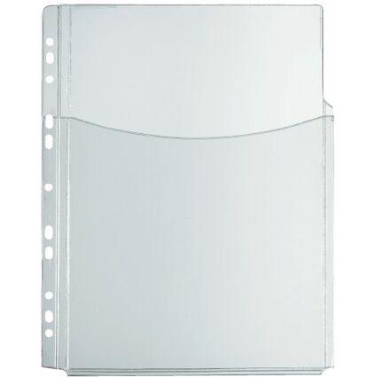 herlitz Prospekthülle mit Faltentasche, DIN A4, PVC, 0,30 mm