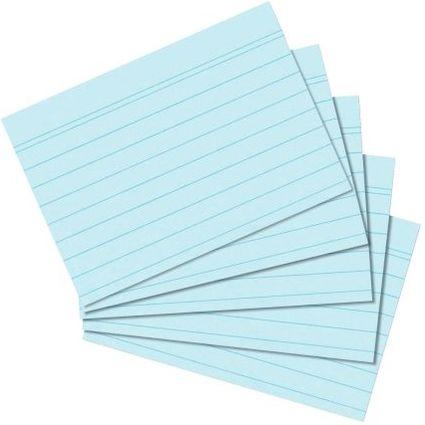 herlitz Karteikarten, DIN A7, liniert, blau