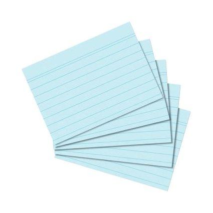 herlitz Karteikarten, DIN A8, liniert, blau