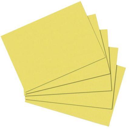 herlitz Karteikarten, DIN A5, blanko, gelb