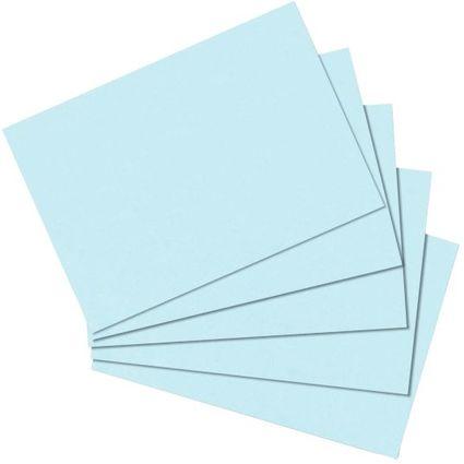 herlitz Karteikarten, DIN A6, blanko, blau