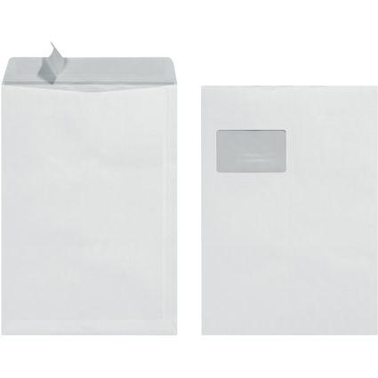 herlitz Versandtasche, DIN C4, mit Fenster, weiß